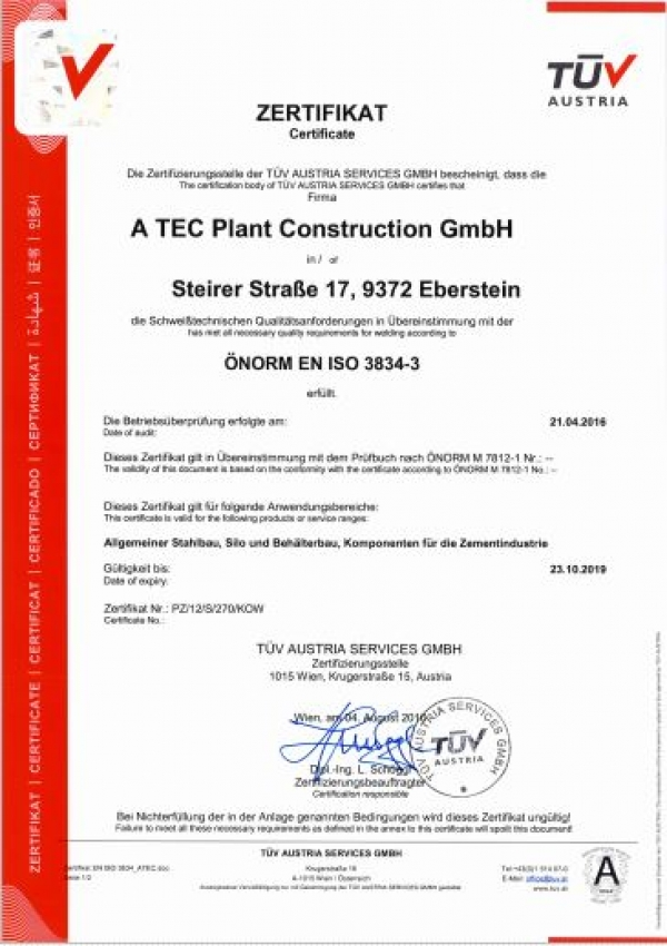 References - A TEC Plant Construction GmbH